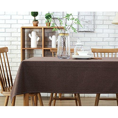 Rectángulo de algodón de lino manteles impermeables / mantel, conveniente para la...