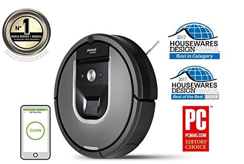iRobot Roomba 960   Robot aspirador  rendimiento de limpieza avanzado con sensores de suciedad Dirt Detect  para todo tipo de suelos y adecuado para el pelo de mascotas  conexión  WiFi
