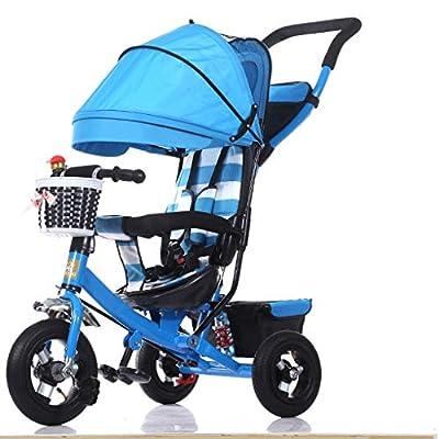YC electronics Sillas de Paseo Triciclo de niño portátil Carrito de Bicicleta Carrito extraíble para Lavar Transformador Triciclo Sillón Silla de Paseo 8M ~ 5Y Sillas Ligeras