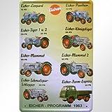 LKW, Bus, Traktor Eicher Programma 1963Targa in Metallo Replica