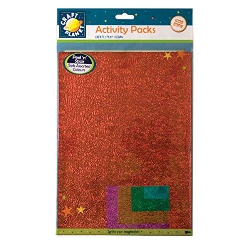 craft-planet-a4-n-stick-supporto-magnetico-vernice-goffrata-metallizzata-set-di-5-fogli-di-carta-mul