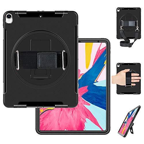 Miesherk iPad Pro 12.9 Case 2018 Schultergurt Eingebauter Ständer Verstellbarer Handriemen Schwere Ganzkörper-Schutzhülle für iPad Pro 12.9 Zoll 2018 Release