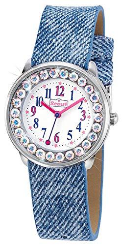 Scout Mdchen Analog Quarz Uhr mit Lederimitat Armband 280381008