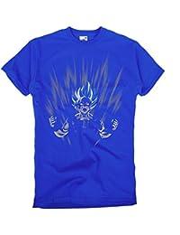 GIOVANI & RICCHI Super Son Goku Blue God Modus Herren Shirt T-Shirt
