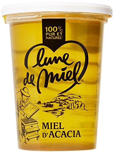 Lune de Miel Miel d'Acacia Pot Plastique 1 Kg - Lot de 5