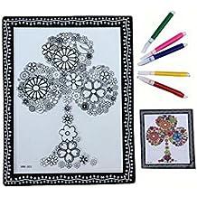 Fai da te per bambini Coloring Palette Tavolo da disegno concavo-convesso con penne [Albero]
