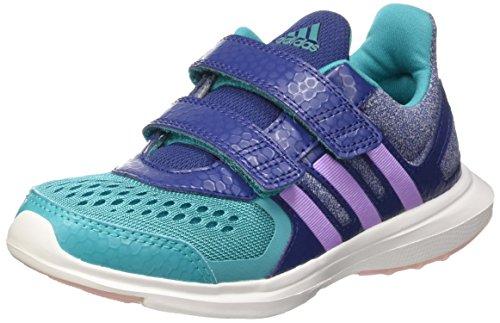 Adidas Hyperfast 2.0 Cf K Scarpe Low-Top, Bambini e ragazzi Multicolore (Rawpur/Purglo/Shogrn)