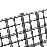 BraveWind 2 Pcs White Grid Divider Tray Egg Crate Aquarium Fish Tank Filter Bottom Isolation Board Pane 12