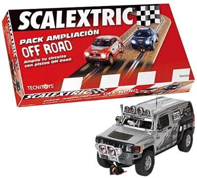 Scalextric Original - Pack Ampliación de circuito Off-Road + Hummer H3 para circuitos Scalextric Original (A10049S800) por Scalextric