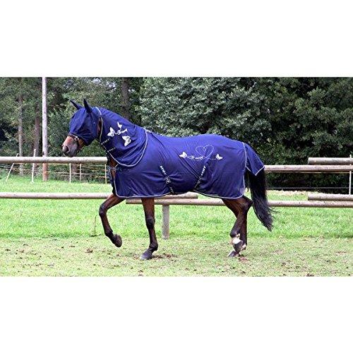 PFIFF 102142 Fliegendecke für Pferde, Motiv Schmetterling, engmaschig hochwertig