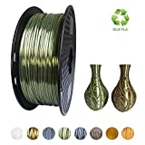 KEHUASHINA Filamento PLA Silk seda de 1.75 mm para impresora 3D - 1kg de bobina - Accesorio de impresora 3D. Material de impresión 3D (Bronce)