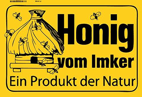 (Honig vom Inker Ein Produkt der Natur bienenzuchter biene metal sign deko schild blech projekt)