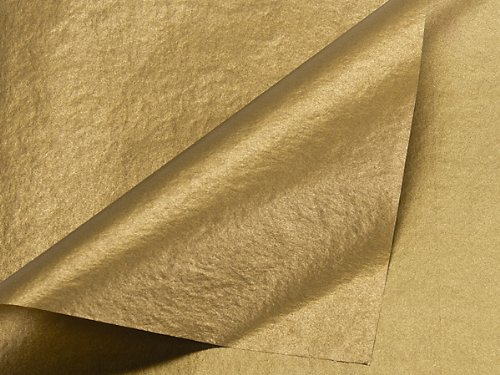 Gold and Gold Tissue Paper10020 inch X30 inch Sheets 2-Sided 100 pack