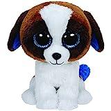 TY 36125 - Duke Hund mit Glitzeraugen, Glubschi's, Beanie Boo's, 15 cm, weiß/braun