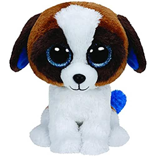 peluches TY - Peluche perro San Bernardo, 15 cm, color blanco y marrón (United Labels 36125TY)