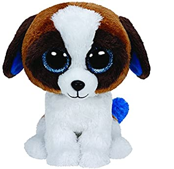 ty beanie boo plush duke the dog 15cm ty amazoncouk toys u0026 games