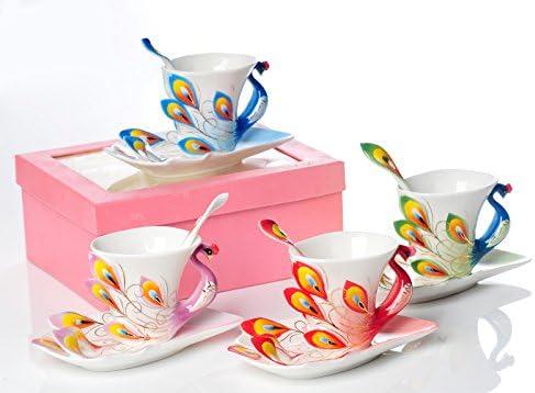 Ajunr-Tazza Dell'Acqua Dell'Ufficio Domestico Lo Smalto Porcellanato Peacock Cup Artware Artware Artware Ceramica Tazza Da Caffè Blu | Trasporto Veloce  | Forte calore e resistenza al calore  59d87d