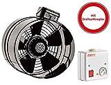 Axial Rohrventilator TURBO Be-Abluft Lüfter Axialventilator Radial ø350 3110m³/h inklusive Drehzahlregler
