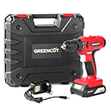 Greencut Td210L - Taladro Atornillador Perforador Inalambrico de Bateria de Litio 21V, Rojo
