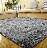 Shaggy Teppich Yoga-Teppich Teppichunterlage antirutschmatte wohnzimmer Badzimmer Hochflor einfarig in