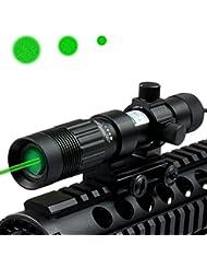 MAYMOC Night Vision verde láser designador / iluminador / linterna con Ajustable soporte 21MM
