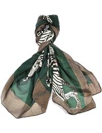 "Cloud9basic Women Ladies Gorgeous Zebra Animal Oversize cotton mix Scarf Wrap Size: 167 x 109cm (43 x 66"")"