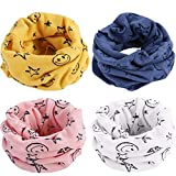 Baby Scarves BESTZY 4PCS Kids Infant Neckerchief Toddler Warmer Cotton Tube Snood Loop Scarves Shawl Winter warm Knitting Neck Scarf Hat Bandana Drool Bibs