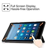 Fintie Hülle für Amazon Fire HD 8 Tablet (7. und 8. Generation - 2017 und 2018) - Ultradünne Lightweight Schutzhülle Tasche mit Standfunktion und Auto Schlaf / Wach Funktion, Schwarz
