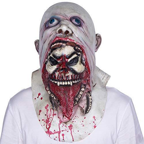 Abschlussball Kostüm Zombie - WWJIE Halloween-Maske, Latex, Abschlussball, Verkleidung, Requisiten, Spukhaus, Zombie-Kopfbedeckung, Geisterkönig, Rotten Mund