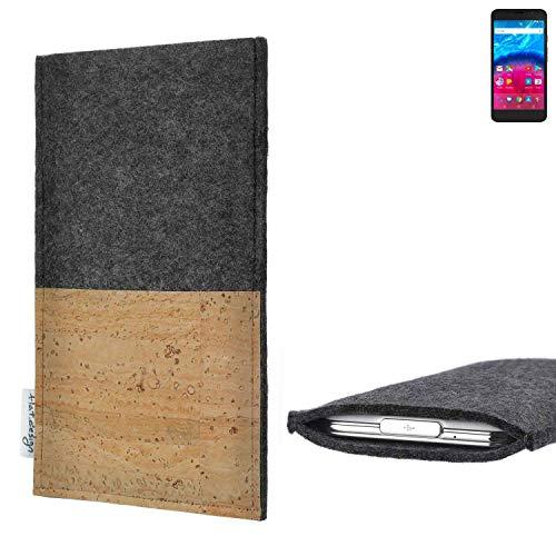 flat.design vegane Handy Hülle Evora für Archos Core 55 4G Kartenfach Kork Schutz Tasche handgemacht fair vegan