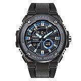 Herren Sportuhr Wasserdicht Schwarz Armband Uhren Militär Multifunktions Digital LED Uhren für Herren
