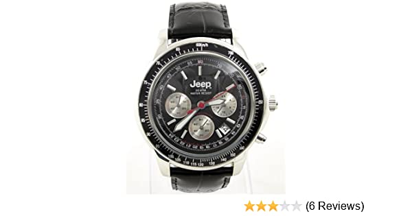 48223a335d1c Gent s Jeep High Spec Black Leather 20 ATM Sports Chronograph Watch. R.R.P.  £89.99  Amazon.co.uk  Watches