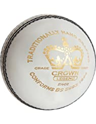 GRAY-NICOLLS–Corona leyenda críquet deporte cosido a mano Grade 1Core Match Ball, blanco