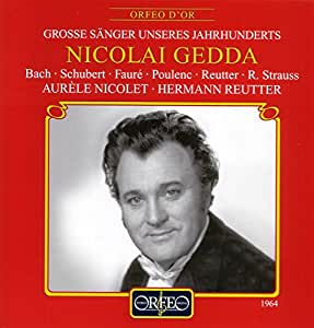 Nicolai Gedda - Airs, mélodies & lieder [Import anglais]