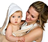 The Original Cuddledry Hands Free Baby Apron Bath Towel (Oatmeal)