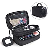 Multifunktional 2 Schicht Make Up Tasche schwarz Kosmetik Make-up-Pinsel Organizer