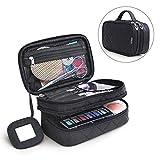 Travelmall multifonctionnel 2Couche Sac de maquillage Noir Cosmétique Brosse de...