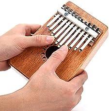 Mustang - Walter Kalimba 10 Notes Keys Thumb Piano Pocket Size Beginners Friendly Supporting Kalimba Bag And Musical Notation