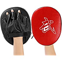 Hemore 1pcs Punch Mitts Suitable for Boxing, MMA, Thai Boxing, Kickboxing, Boxercise, Karate, Taekwondo, Krav MAGA, Wing Chun Other Martial Arts RED and Black