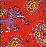 Papierservietten - Servietten - Kashmir - Elefant - 20 Stück
