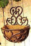 Antikas - Blumenkasten im Landhausstil, schöne Metall Balkonkästen mit Kokoseinlage