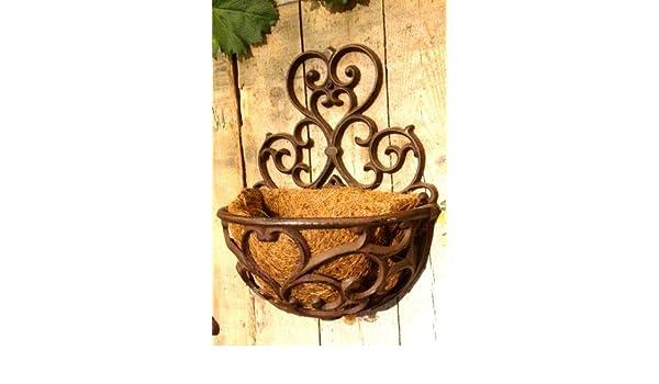 Blumenkasten im Landhausstil sch/öne Metall Balkonk/ästen mit Kokoseinlage Antikas