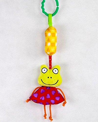 Luxury-uk Soft Book für Kleinkinder Cartoon Tier Soft Flock Stoff Hänge Rassel Kleinkind Spielzeug mit Klingel (Frosch)