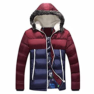 Ai.Moichien Men's Down Jacket,Hooided Down Padded Jacket Down Thicken Quilted Puffer Coat,Water-Resistant,Outdoor Outerwear