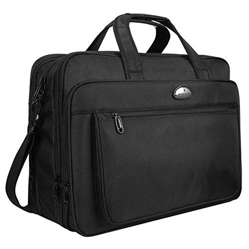 Laptop Tasche, 18 Zoll Laptop Schutzhülle, Travel Aktentasche mit Organizer, groß Kapazität Business/Handtasche/Aktenmappe, Messenger Schultertaschen für Männer Frauen Passform bis 17 Zoll Computer Intel Macbook Laptops