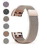 Fitbit Charge 2 Ersatz Armbänd, BeneStellar Ersatz Milanese Band für Fitbit Charge 2 (Rose Gold, Small (5.7