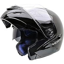 NZI 150207G046 Verti Casco de Moto, Color Negro, Talla 54 (XS)