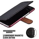 Mulbess HTC 10 hülle Schwarz,Ledertasche für HTC 10
