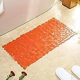bd jfew Badewanne rutschfeste Matten Pebble soft Badezimmer Anti-rutsch Whirlpool Matte mit Sauger hohl Farbe-B 40 x 88 cm (16 x 35 Zoll)