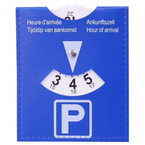 Preisvergleich Produktbild Kleine praktische Parkscheibe blau ProPlus biegbar biegsam knickbar Park Scheibe